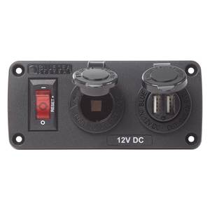 BelowDeck Panel 12V Socket & Dual USB Charger