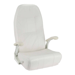 Norwegian Helm Seat with White Upholstery