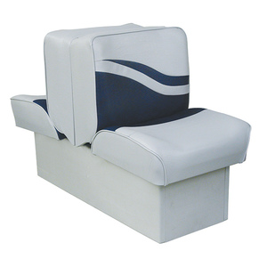 "10"" Base Lounge Seat, Gray/Navy"