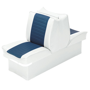 "8"" Base Lounge Seat, White/Navy"