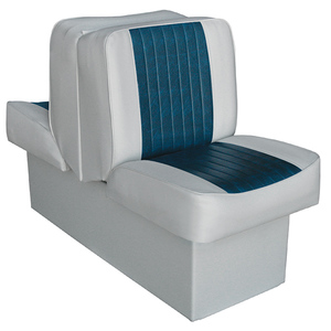 "10"" Base Run-a-Bout Lounge Seat, Gray/Navy"