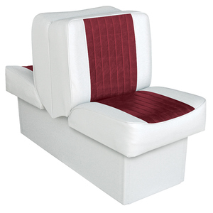 "10"" Base Run-a-Bout Lounge Seat, White/Dark Red"