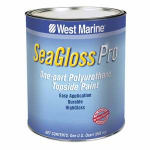 SeaGloss Pro One-Part Polyurethane Topside Enamel, Blu-Glo White, Quart