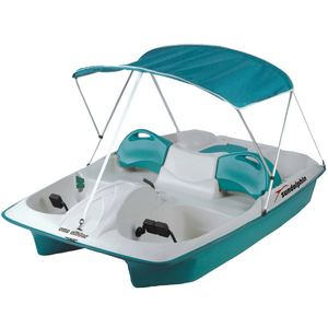 Sun Slider 5-Seat Pedal Boat with Canopy, Teal