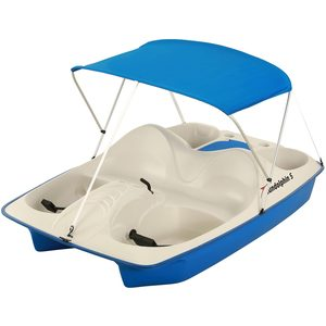 Sun Slider 5-Seat Pedal Boat with Canopy, Blue