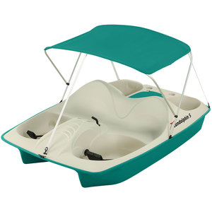 5-Seat Pedal Boat with Canopy, Teal