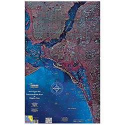 Ft. Myers Beach, Florida Laminated Map
