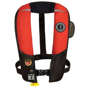 Hydrostatic HIT Inflatable Life Jacket, Red/Black, Harness, Adult