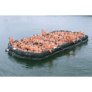 Life Raft IBA, 50-Person, Round Container