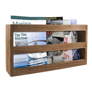 Double-Wide Magazine Rack