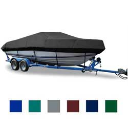 "V-Hull Cuddy Cabin Cover, OB, Pacific Blue, Hot Shot, 20'5""-21'4"", 102"" Beam"