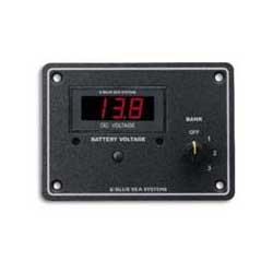 Blue Sea Systems DC Digital Voltmeter Panel, 7-60V DC Resolution, Glass-Reinforced Plastic Case, Lighting