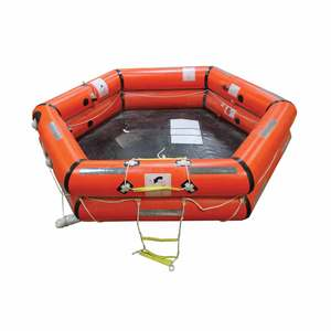 Shoremaster IBA™ 100-Person Life Raft with Fiberglass Round On-Deck Container