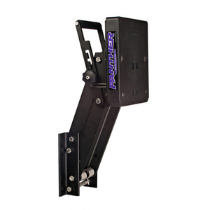 Adjustable Outboard Motor Bracket, Powder-Coat Aluminum, 4-Stroke, Max. 35hp, Max. 263lb.