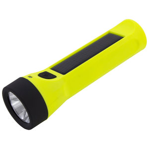 Solar 160-Lumen Flashlight with Rapid-Charging USB and Micro-USB Ports