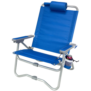 Bi-Fold Beach Chair, Saybrook Blue