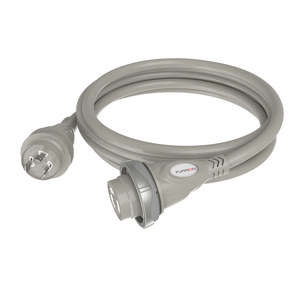 30A Silver Marine Cordset with LED, 25'