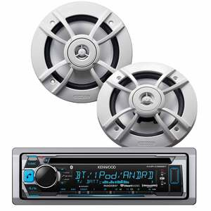 PKG-MR365BT Marine CD Receiver and Speaker Package