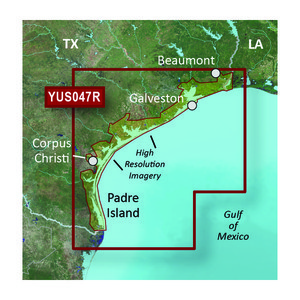 Gamrin BlueChart® g2 HD with High Resolution Satellite Imagery – Texas Gulf Coast