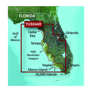 Garmin BlueChart® g2 HD with High Resolution Satellite Imagery – Florida Gulf Coast