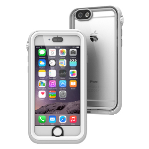 Waterproof Case for iPhone 6S+, White and Mist Gray