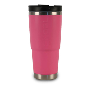 30 oz. Stainless-Steel Vacuum-Insulated Tumbler with Sealable Lid and Non-Skid Base, Pink