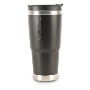 30 oz. Stainless-Steel Vacuum-Insulated Tumbler with Sealable Lid and Non-Skid Base, Black