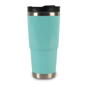 30 oz. Stainless-Steel Vacuum-Insulated Tumbler with Sealable Lid and Non-Skid Base, Sea Foam Green