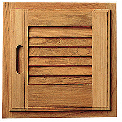 Seateak Louvered Doors with Frame, Right Hand Opening - 15 W x 15 H Sale $117.99 SKU: 250621 ID# 60722 UPC# 814154010606 :