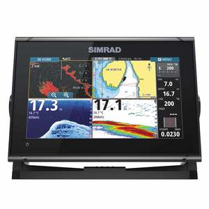 GO9 XSE Chartplotter /Navigation Display, Navionics+ Chart Card, TotalScan™ transducer, Mid/High 455/800kHz CHIRP, 83/200 kHz, StructureScan® HD