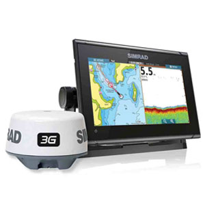 GO9 XSE Chartplotter/Navigation Display, Navionics+ Chart Card, TotalScan™ transducer, Mid/High 455/800kHz CHIRP, 83/200 kHZ, StructureScan® HD + 3G Broadband Radar