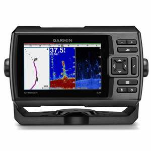 STRIKER™ 5cv 5-inch CHIRP Fishfinder with GPS, ClearVü Scanning Sonar and Transducer