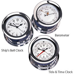 Atlantis Series Chrome Clock & Barometer