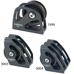 Mast Base Halyard Lead Blocks