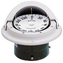 Flush-Mount Voyager Compass, PowerDamp Flat Dial, White