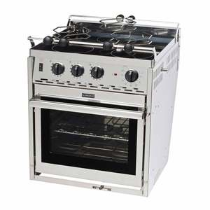 Three-Burner Glass-Top 120V Electric Range