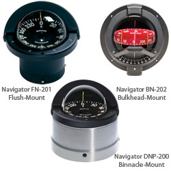 Ritchie Navigation Binnacle-Mount Navigator Compass, 4-1/2 PowerDamp Flat Card Dial with Large Numerals, Brushed Stainless