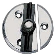 "Chromed Zinc Door Button - 1 3/4"" with Tension Spring"