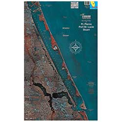 Stuart to Ft. Pierce, Florida Laminated Map