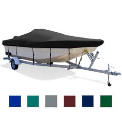 "Deck Boat Cover, I/O, Gray, Hot Shot, 16'5""-17'4"", 90"" Beam"