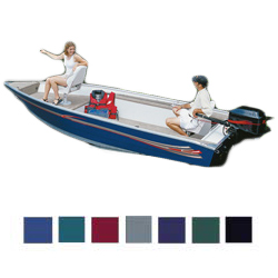 Basic Fishing Boat Hot Shot Semi-Custom Covers With Motor Hood