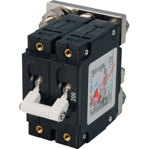 C-Series White Toggle Circuit Breaker, Double Pole, 200A