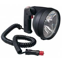 Twin Beam Hand Held Search Light, Black Housing, 12V