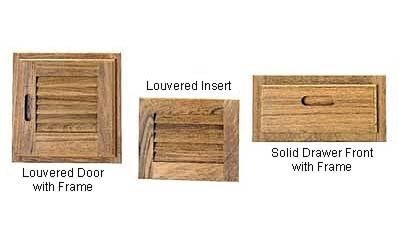 Teak Doors, Drawer Fronts and Louvered Inserts