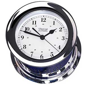 Atlantis Quartz Clock, Chrome