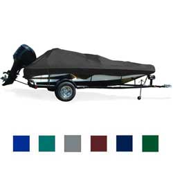 "Tournament Bass Boat Cover, OB, Black, Hot Shot, 15'5""-16'4"", 70"" Beam"