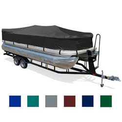 "Pontoon Cover, 15'1""-16'0"" Center Line Length, 96"" Beam, Gray"