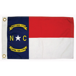 "North Caroln State Flag, 12"" x 18"""