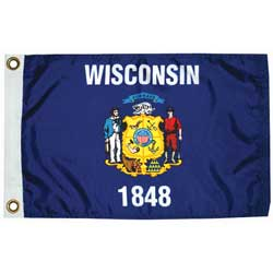 "Wisconsn State Flag, 12"" x 18"""