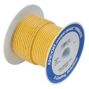 Yellow Tinned Copper Wire, #12 Gauge, 25'